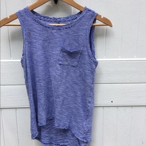 old navy royal and white striped tank top